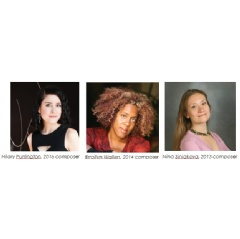 Past Commissioned Composers: Hilary Purrington, Errolyn Wallen, Nina Siniakova