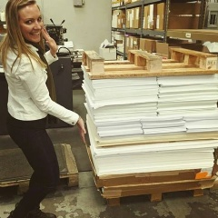 Waste not, want not: Tucson-based print company prepares to donate much needed paper to an eager area school.