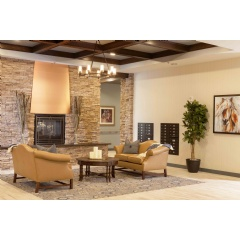 Warm and Welcoming Assisted Living Lobby at Parkview in Frisco