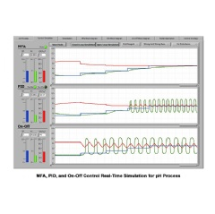 MFA, PID, and On-Off Control Real-Time Simulation for pH Process
