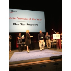 Dr. Stephanie Gripne announces Blue Star Recyclers selected Social Venture of the Year