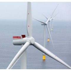 Siemens SWT-6.0-154 for Westermost Rough offshore wind power plant –For the first time, Siemens has installed the 6 MW direct drive wind turbine with a rotor diameter of 154 meters on a commercial large scale project.