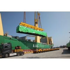 One of the HRSG modules for the Beni Suef combined cycle power plant is loaded into the vessel in South Korea.