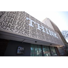 The outside facade of IBM Research - Africa in Johannesburg, South Africa was inspired by old punch cards used for programming computers in the early 1900's.