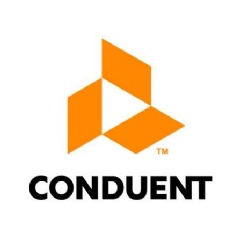 Conduent unveiled the typeface treatment and logo the business process services company will be featuring after it separates from Xerox on January 1, 2017.