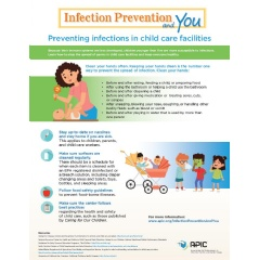 Infographic: learn how to prevent infections in child care facilities