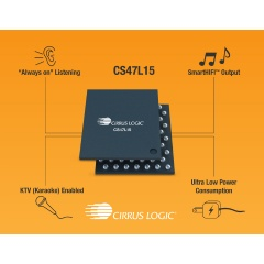 The CS47L15 smart codec from Cirrus Logic brings advanced audio features to a wide range of global smartphones.
