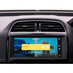 Example of an in-car payment screen featuring the Shell app