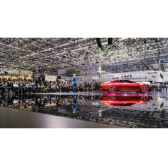 Mercedes-Benz at the 2017 Geneva International Motor Show: Dr. Dieter Zetsche, Chairman of the Board of Management of Daimler AG & Head of Mercedes-Benz Cars, at the Mercedes-AMG GT Concept.