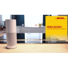 The voice-controlled interaction with Alexa is part of DHL Parcel's service strategy to continually improve the customer experience.