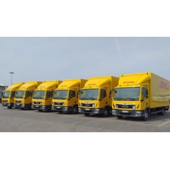 In line with DHL's environmentally friendly GoGreen program, 15 of the 30 trucks are equipped with rooftop solar system developed by DHL's start-up TRAILAR.