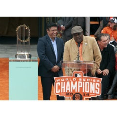 Giants fans can head out the San Mateo County Fair June 13 12-2pm to meet Tito Fuentes and see the 2014 Giants World Series Championship Trophy.