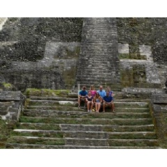 Divers Direct travelers enjoy exploring the Mayan ruins during a surface interval.