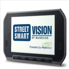 The FleetMind Mobile On-Board Computer and DVR Platform for Street Smart Vision by McNeilus enables an extensive list of software features.