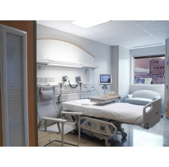Louvers-within-glass provide unmatched control of vision, heat, sound and light in patient spaces.