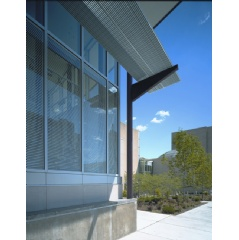 Integrated louvers are proven to redirect and/or block transmitted daylight to control solar heat gain and light.