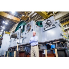 Horsburgh & Scott manufactures this gigantic 366,000 lb. rolling mill gearbox, producing 20,000 HP and 24,700,000 in.-lb.-f of output torque.
