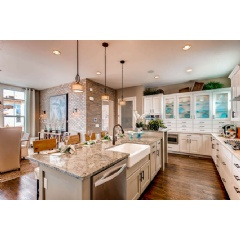 Interior shot of Berkeley Homes� Residence Three model home at Boulevard One at Lowry in Denver, Colorado.