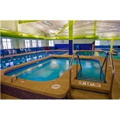 The Meridian Ranch Rec Center indoor pool and whirlpool spa.