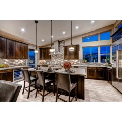 Interior of Residence 4, the ranch model at Boulevard One. Just two park-front ranch homes remain in Lowry.
