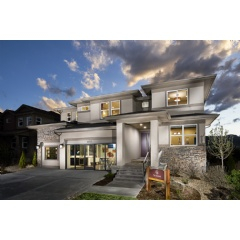 Epic Homes' Summit model, featured in the successful Leyden Rock master-planned community in Arvada, Colorado and a recipient of a 2017 Silver Award for Best Architectural Design, Detached Home 3,501 to 4,000 square feet.