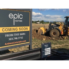 Epic Homes breaks ground on new home collection in Broomfield, Colorado's popular Anthem community. Pre-sales on Epic's Anthem Highlands enclave start on June 10th.