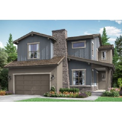 Rendering shown is of the Residence One. This plan is one of the two featured model homes on site for Berkeley Homes at Backcountry.