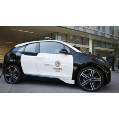 BMW i3 Sporting the LAPD Logo
