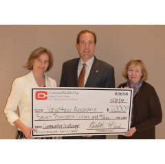 Marion Brunken, Executive Director Volunteer Alexandria, Frank Fannon, President Volunteer Alexandria, and Charlotte Cash, President and CEO CommonWealth One Federal Credit Union