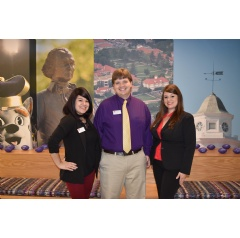 Gabby Gill, Brian Ward and Shea Baum at CommonWealth One the James Madison University Branch