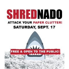 Shrednado!  Attack Your Paper Clutter!