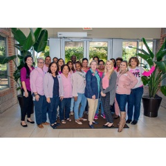 CommonWealth One Federal Credit Union team members wore pink in October in support of breast cancer awareness. The credit union is also raising funds for treatment in the Harrisonburg, Va. area.