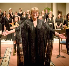 Artistic Director Cynthia Powell with Melodia Women's Choir of NYC