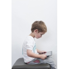 Dr. Leigh Sheldrick urges parents to check their child for iPosture Syndrome, which occurs when the head leans forward of the body while a person is looking downward.