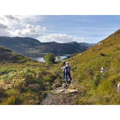 Hiking along Loch Morar, Highlands of Scotland with About Argyll Walking Holidays