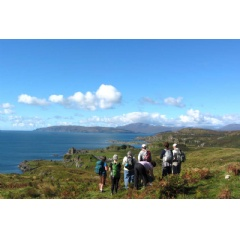 Hiking on the Isle of Kerrera during the Perthshire, Argyll and the isles luxury walking tour.