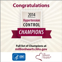 Congratulations 2014 Hypertension Control Champions