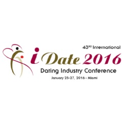 The annual iDate Super-Conference is for C-Level professionals in the dating business.  It is the industry's largest event of the year.  The event will be  from January 25 to February 1, 2016 in Miami.