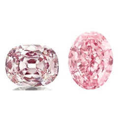 Natural colored pink diamonds