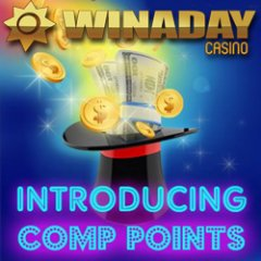 Frequent players love WinADay Casino's new Comp Points