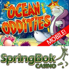 New Ocean Oddities mobile slot game at South Africa's Springbok Mobile Casino.