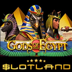 Slotland�s new Gods of Egypt real money online slot with bonus game and sticky wild