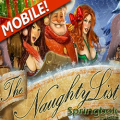 The Naughty List slot game now in Springbok Mobile Casino