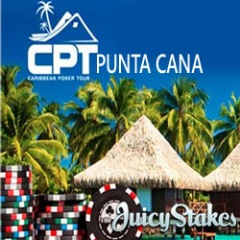 Juicy Stakes online satellites for CPT Punta Cana live poker tournament