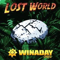 New Lost World dinosaur themed slot game at WinADay Casino.