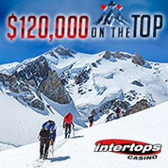 On the Top casino bonuses at Intertops this month.