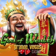 New God of Wealth from Realtime Gaming now at Grande Vegas Casino and Mobile Casino