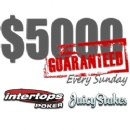 Sunday $5000 GTD is Back at Intertops Poker and Juicy Stakes
