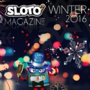 Contests, Coupons, Comics and Christmas in Winter Time Issue of Sloto Magazine Delivered to Players this Week