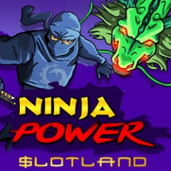 New Ninja Power real money online slot game at Slotland.eu